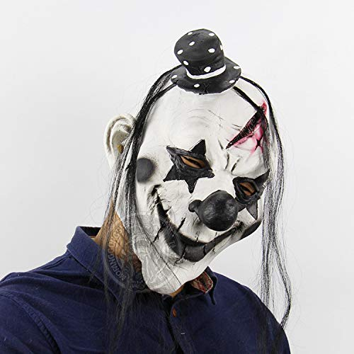 Evil Satanic Demon Scary Horror Halloween One Size Evil Scary Clown Mask by Halloween Paradise (Image #3)