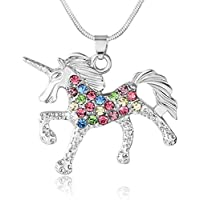 ELOI Unicorn Pendant Necklace Pony Mustang Inspirational Christmas Gift for Little Girls