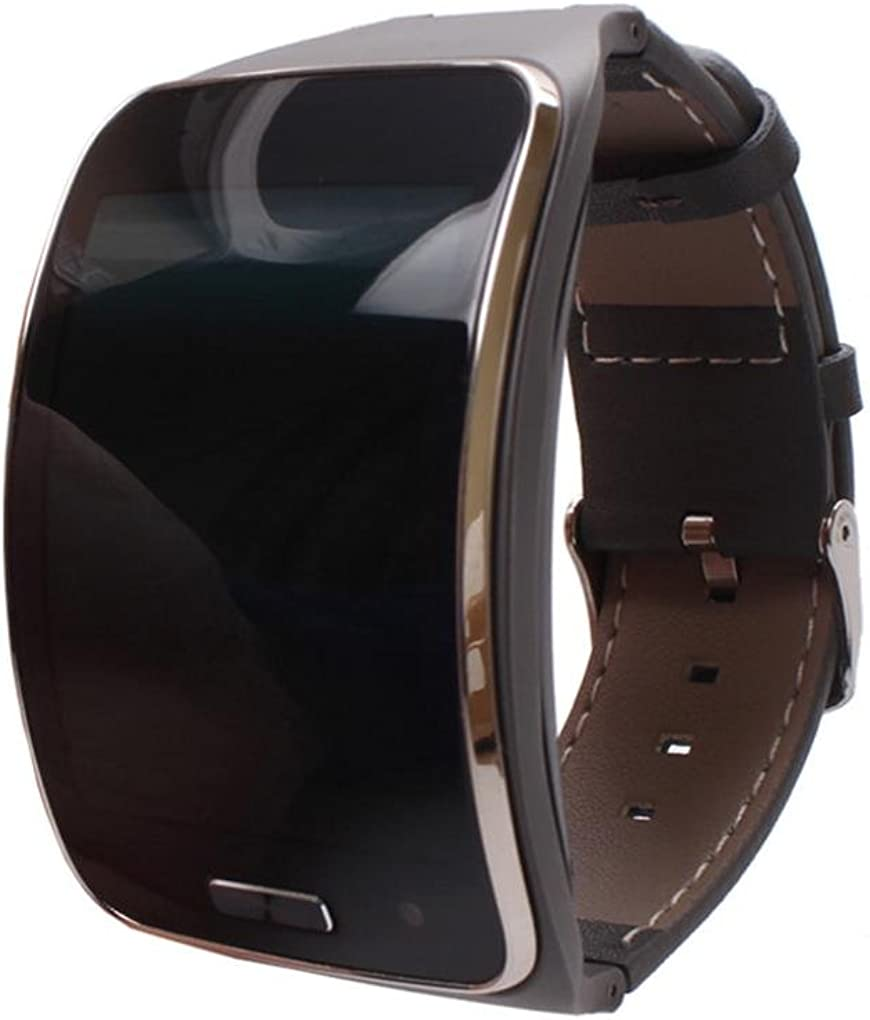 Dreaman Genuine Leather Watch Band for Samsung Gear S sm-r750Smart
