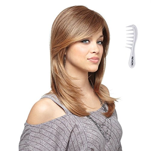 - BRANDI Monofilament Wig #2503 Amore Collection by Rene of Paris, Bundle - 2 items: Wig and Wig Lift Comb (Color Selected: CHESTNUT)