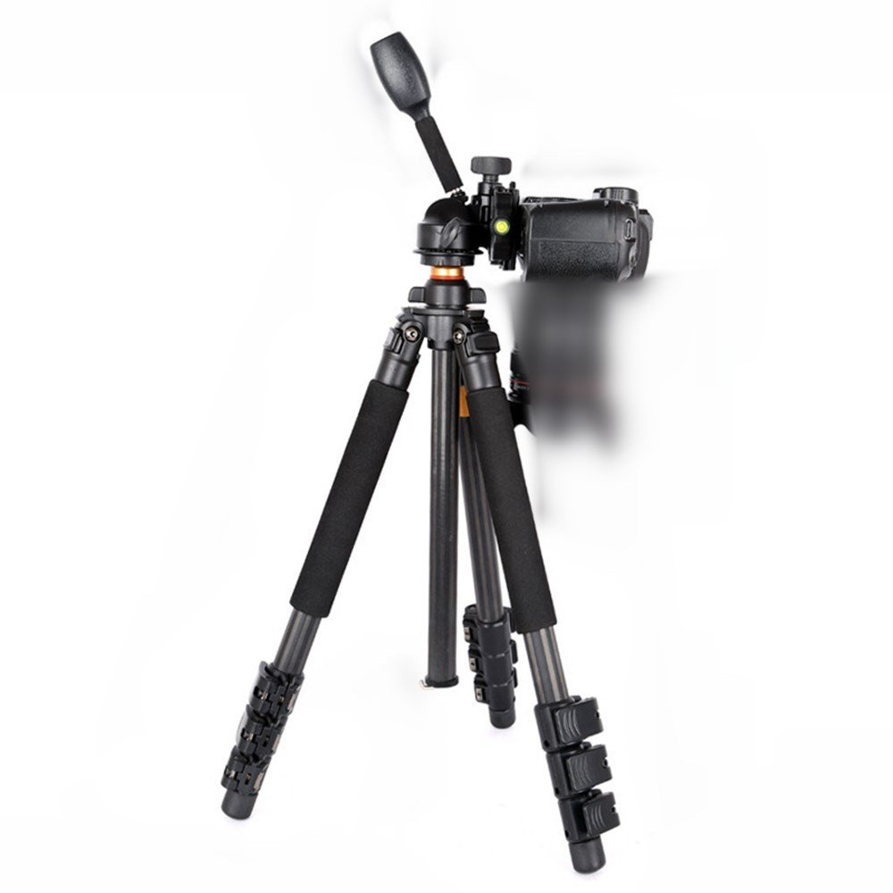 Portable Carbon Fiber SLR Camera Tripod, Removable Monopod, Low Angle Shot, Travel Photography/Camera Multifunction Head Tripod, Panoramic Shoot Tripod by ZQ