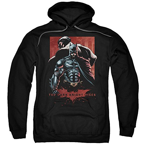 Trevco Men's Dark Knight Rises Batman &Amp Bane Adult Hoodie at Gotham City Store