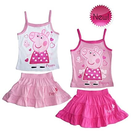 Peppa Pig Completo de Verano Camiseta Falda Estate Mar Producto ...
