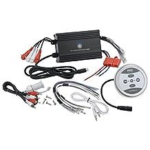 Pyle PLMRMBT7B Marine Grade 1200 Watt Amp Bluetooth 4-Channel Amplifier (Black)