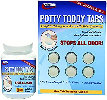 Potty Toddy Tabs 6//Card