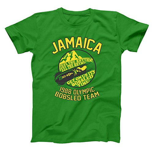 Jamaica 1988 Bobsled Team Funny Olympic Movie Winter Summer Cool Runnings Retro 80s Movie Humor Mens Shirt X-Large - Running Apparel Outlet