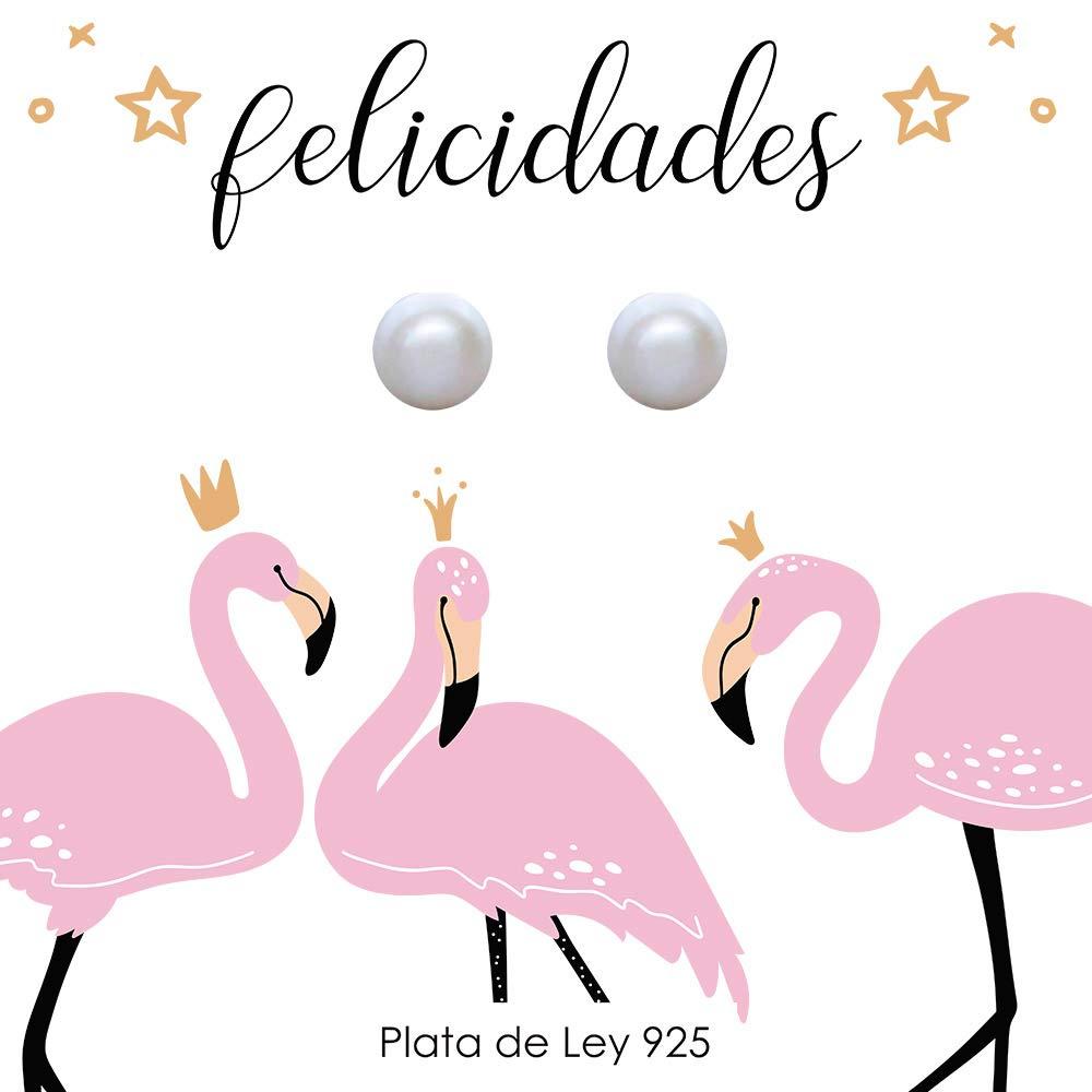 Pendientes perlas cultivadas Plata de Ley con tarjeta regalo ...