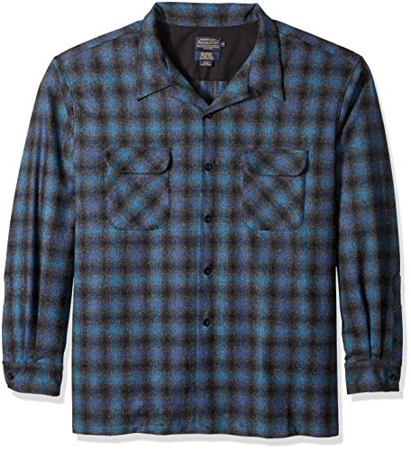Pendleton Men's Big Classic Board Shirt, Blue/Black Ombre, 4X