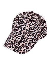 OMINA Women's Leopard Print Cap, Handmade Fashion Casual Autumn Winter