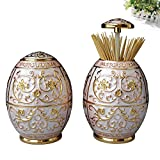 European-style pressing style toothpick automatic toothpick box fashion creative living room toothpick barrel-A