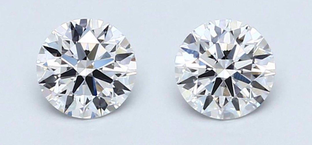 9971f09d7 Amazon.com: Blue Nile Diamond Jewelry Platinum Round Bezel Cup Stud Earrings  GIA Certified, Colorless, Signature (Astor) Ideal Cut Diamonds with Secure  ...
