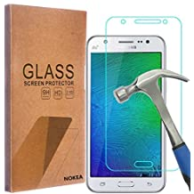 Samsung Galaxy J7 Screen Protector, NOKEA [Tempered Glass] with [9H Hardness] [Crystal Clear] [Easy Bubble-Free Installation] [Scratch Resist] (for Galaxy J7)