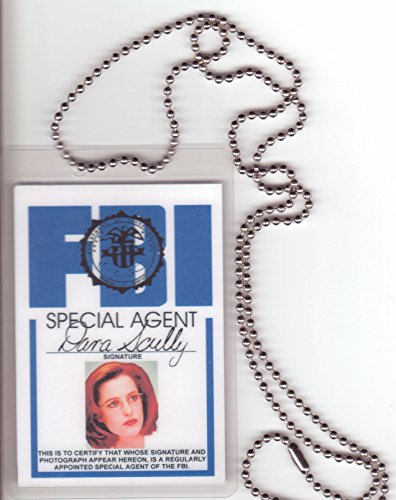Dana Scully Aka Gillian Anderson FBI Special Agent Badge / Fake I.d. Identification for Xfiles Fans (Scully Costume)