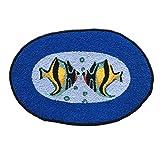 Ustide Ocean Fish Rug Handmade Rug Washable Bathroom Mat Animal Rug for Kids Non-Slip Floor Mats for Foyer/Dooway Small Review