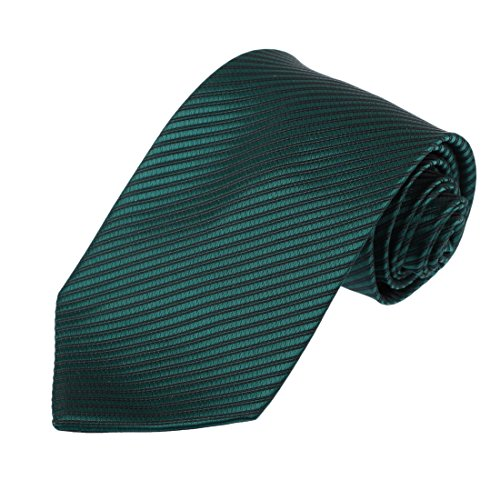 DAA3A01E Dark Cyan Stripes Woven Microfiber Accessories Necktie Whole Sale Gift By Dan Smith