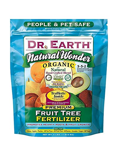 Dr. Earth 708P Organic 9 Fruit Tree Fertilizer In Poly Bag, 4-Pound - Fruit Tree Fertilizers