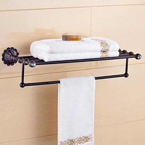 GL&G European Retro copper Bathroom Bath Towel Rack black Bathroom ...