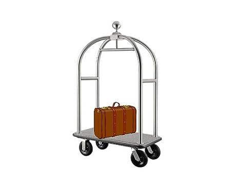 Equipaje carrito transportador Hotel coche maleta coche furgoneta Hotel necesidades con efecto plateado metalizado