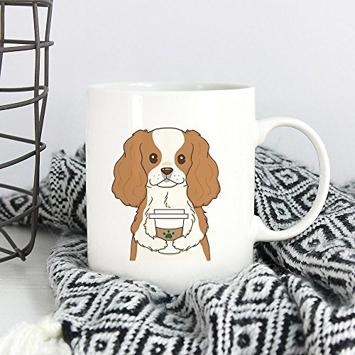 CAVALIER KING CHARLES SPANIEL DRINK COFFEE, Dog Funny Mugs, Dog Funny Coffee Mug, Dog Lover Coffee Mug, Christmas Gift, Gift For Dog Lover, Gift for Him, Gift For Her, Gift Idea For Friends, 11oz 15oz