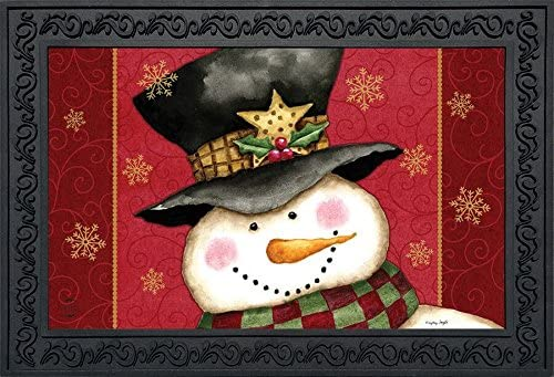 Briarwood Lane Holly Jolly Snowman Christmas Doormat Holiday Indoor Outdoor 18 x 30