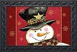 Briarwood Lane Holly Jolly Snowman Christmas Doormat Holiday Indoor Outdoor 18' x 30'
