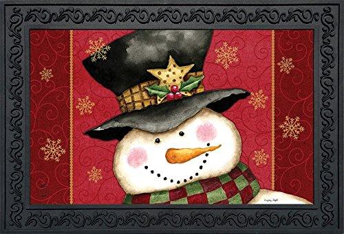 Briarwood Lane Holly Jolly Snowman Christmas Doormat Holiday Indoor Outdoor 18