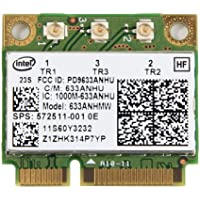 IBM Intel Centrino Ultimate-N 6300 Wi-Fi Card Dual-band 2.4/5GHz 802.11a/g/n 450Mbps 3X3MIMO 633ANHMW