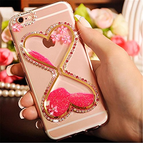 Galaxy S3 Case,Galaxy S3 Diamond Liquid Hourglass Case,Goodaa Bling Shiny Diamond Cryatsl Lip Noctilucent Luminous Hourglass Case Glow in the Dark Cover Case For Galaxy - Galaxy S3 The Glow Case In Dark