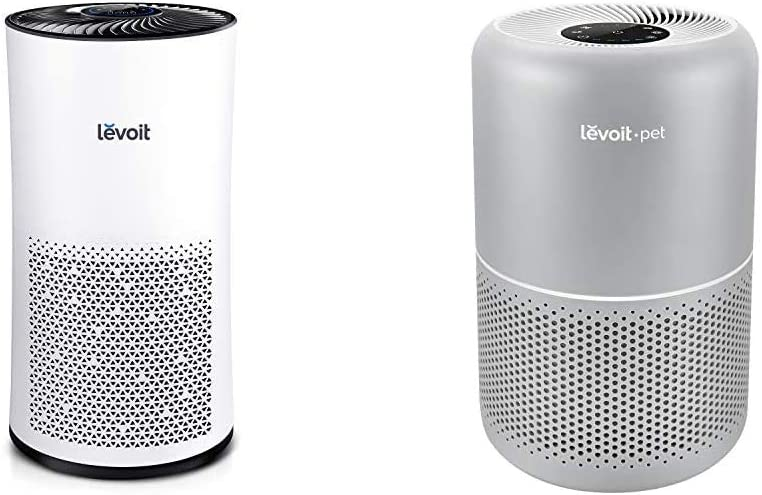 LEVOIT Air Purifier for Home Large Room with H13 True HEPA Filter & Air Purifiers for Home Allergies and Pets Hair, H13 True HEPA Filter for Bedroom, 24db Filtration with ARC Formula, Core P350, Gray