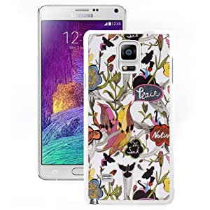 Sakroots 20 White Samsung Galaxy Note 4 Screen Cover Case Handmade and Custom Design
