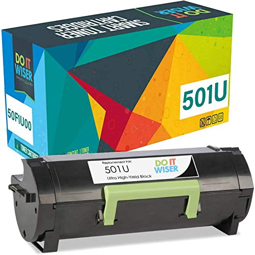 Do it Wiser Compatible Toner Cartridge Replacement for 50F1U00 501U Lexmark MS610dn MS610 MS510 MS510dn MS610de MS610dtn MS610dte (20,000 Pages) Ultra High Yield