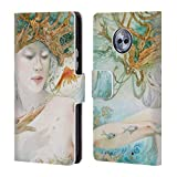 Official Stephanie Law Entertaining The Daydream Sea Creatures Leather Book Wallet Case Cover Compatible for Motorola Moto X4