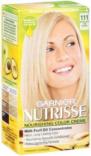 Garnier Nutrisse Crème Nourrissante couleur aux fruits de concentrés d'huile, niveau 3 permanent, Extra-Light Ash Blonde 111 (pack de 3)