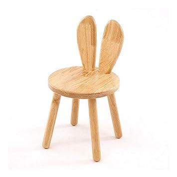 Petit Banc Tabouret Dinant Dossier Animé En Bois Créatif Enfants Chaise Bébé La Maison Dessin Oreille Lapin Apprenant f76yIvYbg