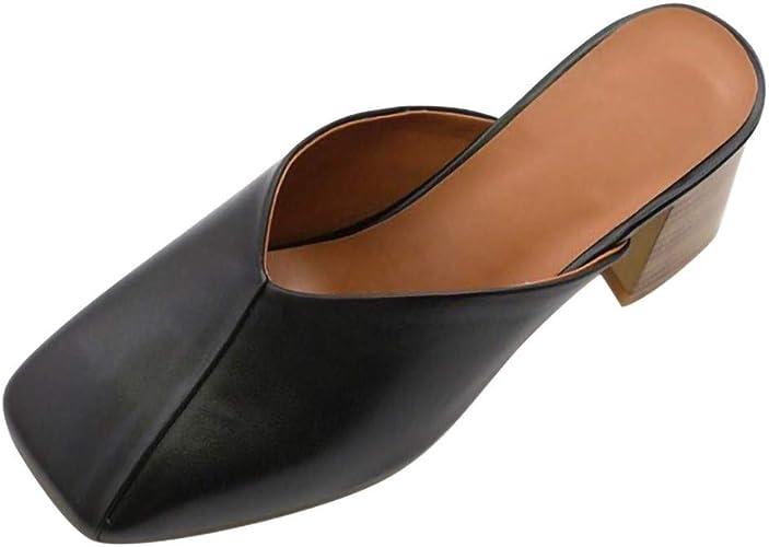 Block Heel Closed Toe Summer Sandals