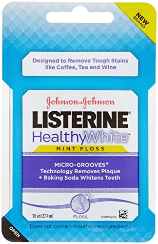 Listerine Healthy White Floss, Mint, 30 yd