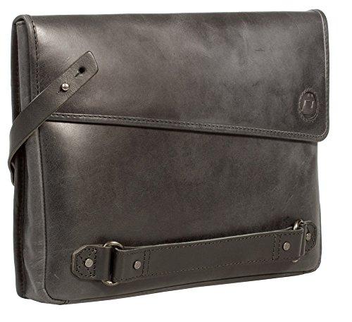 Bag Grey Black Men's Clutch Uberbag Black graphite Leather Insignia TzUwxTnqO1