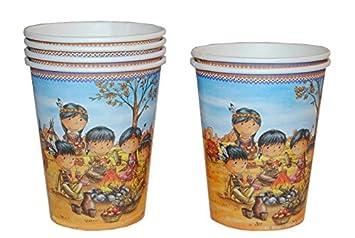 6 Piezas De Carton Indios Ninos Vasos Para Ninos Exploradores