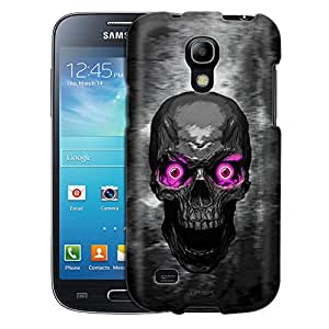 Samsung Galaxy S4 Mini Case, Slim Fit Snap On Cover by Trek Skull Colored Eyes Pink Case