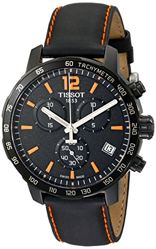 Tissot Men's T0954173605700 Quickster Chronograph Analog-Display Swiss Quartz Black Watch