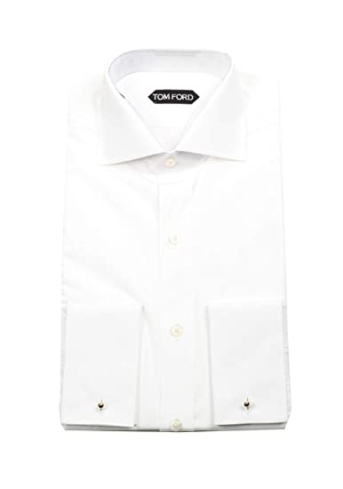 d52c69575212 CL - Tom Ford Solid White Dress Shirt French Cuffs Size 44/17, 5 ...
