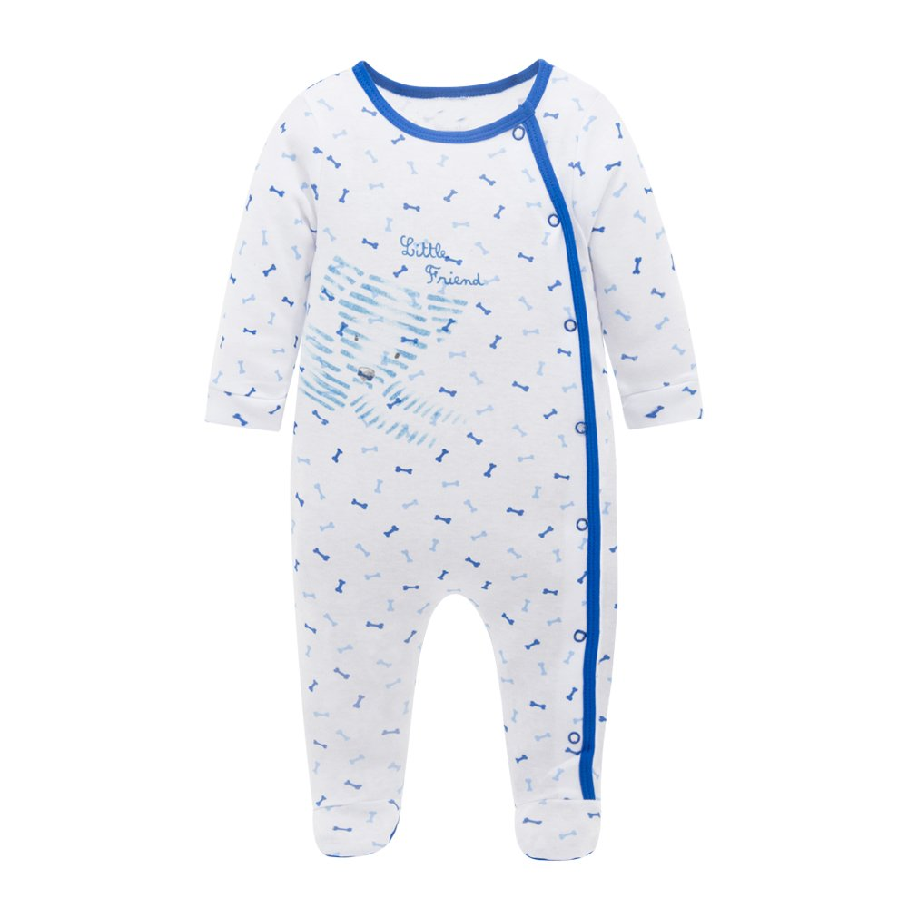 Babe Maps Unisex Baby's Long Sleeve Footie 100% Cotton