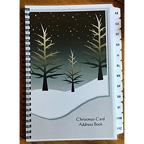 free shipping christmas card address book list organizer with a z