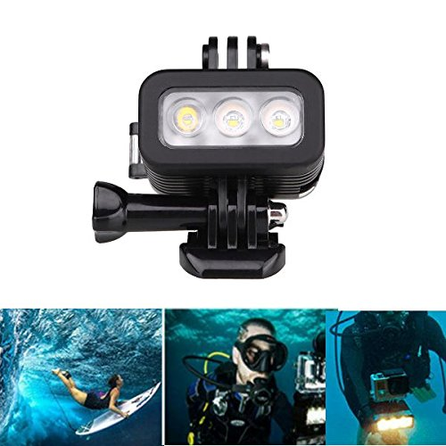 Hangang Dive light Underwater Light for 30m Waterproof Sidekick Side LED Flash Spot Flood Lighting Camera Accessories - For Dive Diving Scuba Go Pro Hero 2 3 3+ 4 5 And Other Similar Camera by Hangang