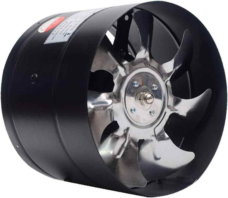 VentiladorExtractor silenciosa 180mm Tubo Redondo Ventilador de Escape Ventilador de Humo de Cocina Potente baño Silencio Bajo Consumo de energía Fuerte ventilación (Color : A)