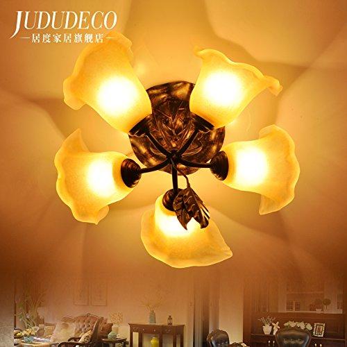 BLYC- E27 Lampe Schlafzimmer helle Veranda Licht Foyer leuchtet die Zimmer Balkon Beleuchtung Decke Lampe Östliches Mittelmeer einfache Europäische pastorale Jahrgang Kinderzimmer 480 * 400mm