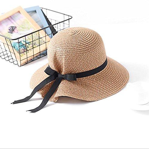 De bajo costo haihuayan sombrero de paja hermoso arco pac adulto sombrero  de paja verano mujer 7848352e460