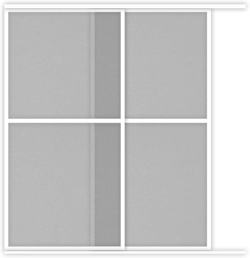 Mosquitera corredera con ventana XXL de 2 paneles de aluminio, 240 x 240 cm, color blanco: Amazon.es: Bricolaje y herramientas