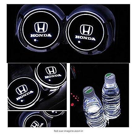 ephvan LED Car Logo Cup Holder Pad 7 Colors Changing USB Charging Mat LED Cup Mat Car Atmosphere Lamp Decoration Lights 2PCS for volvo