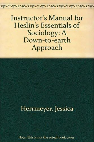 Instructors Manual Henslin Sociology A Book By James M Henslin
